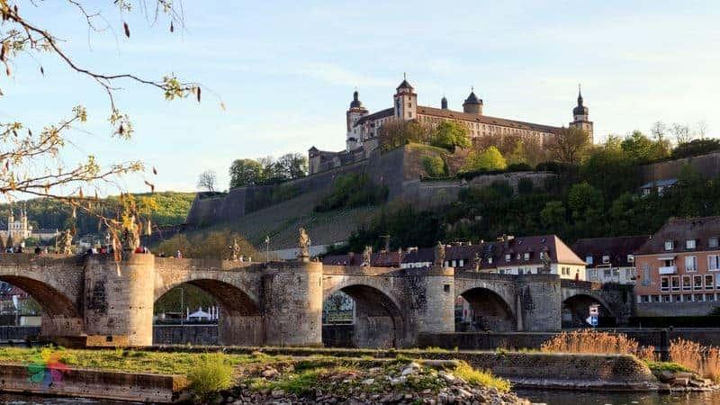 Marienberg Fortress romantik yol almanya