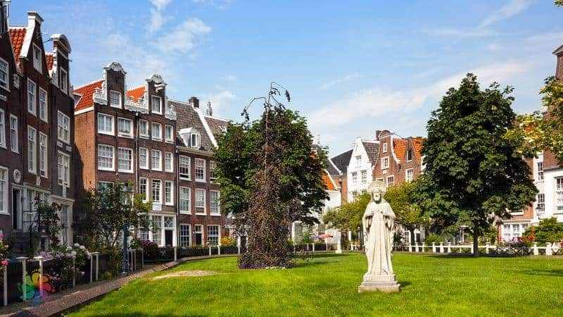 amsterdam gezilecek yerler Begijnhof