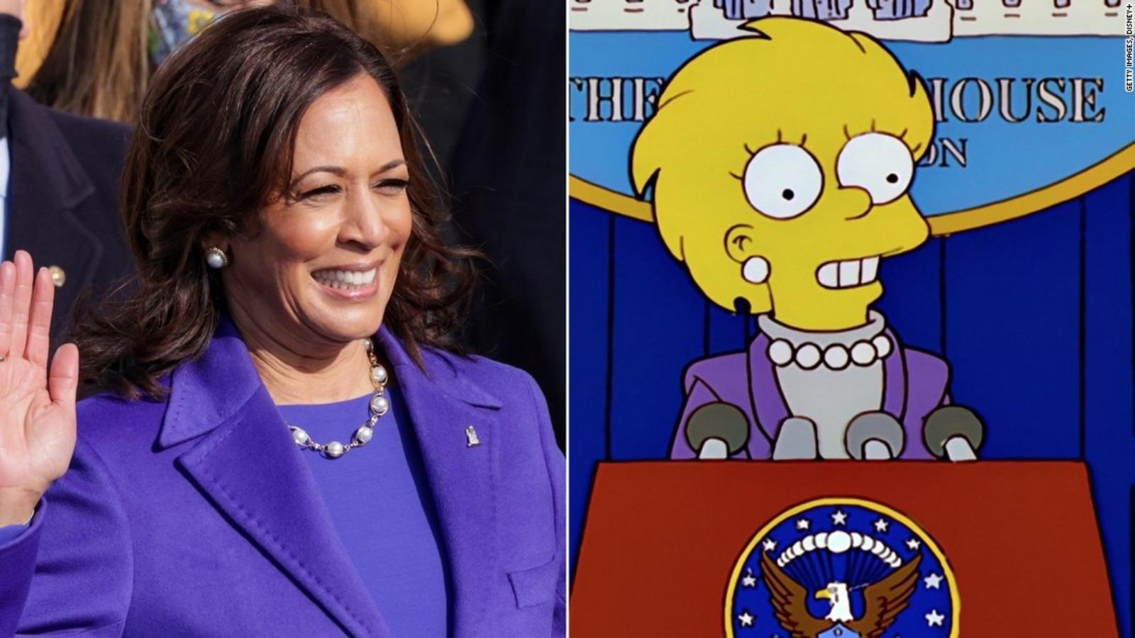 Twitter kullanıcıları The Simpson's dizisinden yeni bir tesadüfü gündeme getirdi: Kamala Harris-Lisa Simpson benzerliği